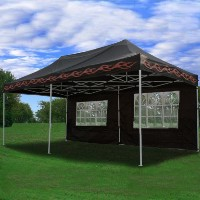 High Quality 10x20 Black Flame Pop Up Canopy Party Tent