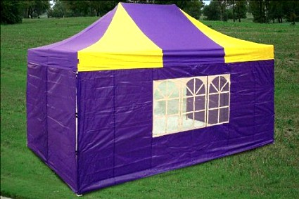 10x15 Pop Up Canopy Party Tent Gazebo Ez Yellow Purple