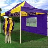 10x15 Pop Up Canopy Party Tent Gazebo EZ Yellow/Purple