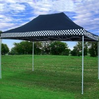 High Quality 10x15 Pop Up Canopy Party Tent Gazebo EZ Black Checker