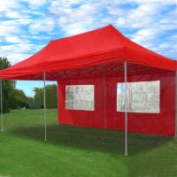High Quality 10x20 Red Pop Up 6 Wall Canopy Party Tent Gazebo Set EZ