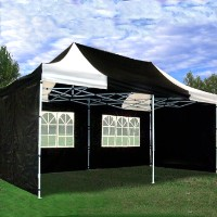 High Quality 10x20 Pop Up Canopy Party Tent Gazebo EZ - Black/White