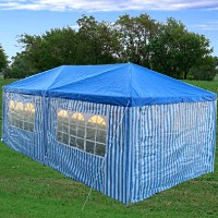 10'x20' Party Wedding tent Gazebo Pavilion Catering Blue