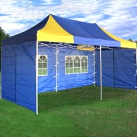 Blue Yellow 10x20 Pop Up Canopy Party Tent Gazebo EZ