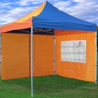 10x10 Pop Up Canopy Party Tent Gazebo Golden/Blue