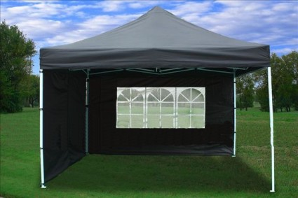 Black 10x10 ez pop up 4 wall canopy party tent gazebo for Cheap wall tent