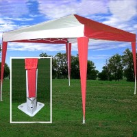 High Quality 10x10 Red/White Pop Up Canopy Party Tent EZ CS