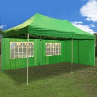 10x20 Pop Up 6 Wall Canopy Party Tent Gazebo Set EZ Green