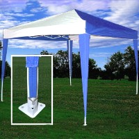 High Quality 10x10 Blue/White Pop Up Canopy Party Tent EZ CS