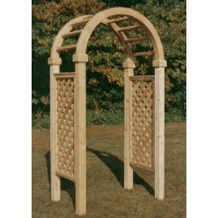 Brand New 3.5' Wide Red Cedar Arbor w/Lattice