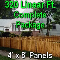4' X 320' Semi-private Garfield Cedar Picket Fence