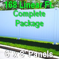 Brand New 6' x 8' Private PVC Fence Complete Package