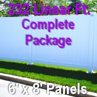 Brand New 6' x 232' Semi Private PVC Fence Complete Package
