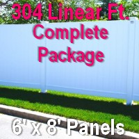 Brand New 6' x 304' Semi Private PVC Fence Complete Package