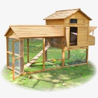 Backyard Waterproof Wood Chicken Coop Hen Rabbit Hutch