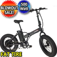 36v Electric Fat Tire Bike 500 Watt Lithium Ion Battery Beach Cruiser Mountain Bicycle