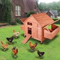 """59""""x39""""x41"""" Wooden Chicken Coop Poultry Hen Chicken Cage Nesting Box"""